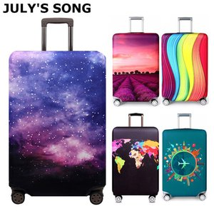 JULY'S SONG Elastic Fabric Luggage Protective Cover, Suitable 18-32 Inch , Trolley Suitcase Case Dust Cover Travel Accessories T200710