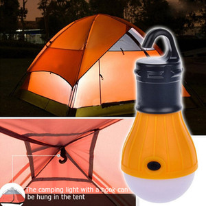 5 colores Tienda al aire libre impermeable a prueba de agua Camping Light 3led Portable Hook Light Mini Emergency Camping Signal Light