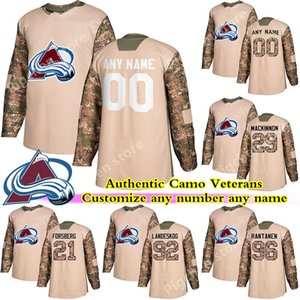 Camo Veterans Day Practice Colorado Avalanche jerseys 8 MAKAR 21 FORSBERG 49 GIRARD 19 SAKIC JOST any number any name hockey jersey