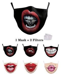 Dientes Máscaras mascarilla del partido de Halloween del polvo anti resplandor Boca Máscara atractiva del labio de la mascarada de Cosplay