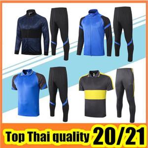 Top-Qualität 2020 2021 INTER Anzug Fußballjacke Kits ICARDI Nainggolan LAUTARO Perisic Nainggolan 20 21 inter Jacke Trainingssatz