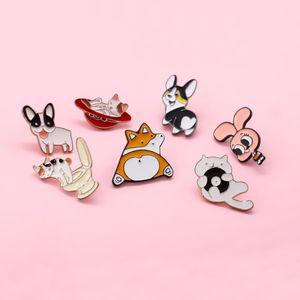 Broche - bonito dos desenhos animados gatinho puppy saco de roupas broche de esmalte crachá de jóias de presente pequena