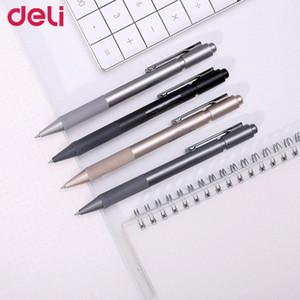 Deli 4шта высокого качества гелевых ручки 0,5мм черных гель чернила для студента письменного канцелярских школ канцелярских принадлежностей бизнес знак перо КРООН #