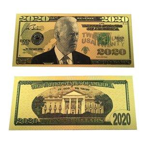 Biden-Dollar US-Präsident Banknote 24K Goldfolie Bills Gedenkmünze Crafts Amerika General Election Supplies