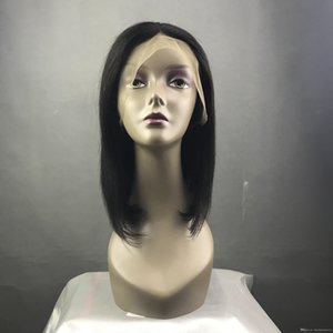 9A Human Hair Wigs With Baby Hair Silky Straight Brazilian Virgin Lace Front Bob Wigs For Black Women Lace Frontal Wig