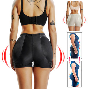 FAKE ASS High Waist Tummy Control Seamless Shapewear Hip Enhancer Booty Padded Butt Lifter Panty Boyshorts Shorts for Women MX200711