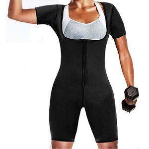 Femmes Vêtements de sport Sauna néoprène Sculpting Full Body Corset Collants magrir Noir Sweat Bodysuit Fat Burner Slim MX200711