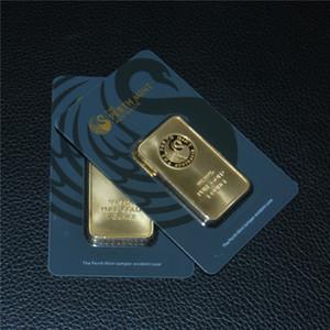 1 OZ Oro Bar Series Perth Mint lingotto in Australia Copy Green Bar nero della bolla di qualità vendita calda regalo di affari di trasporto libero