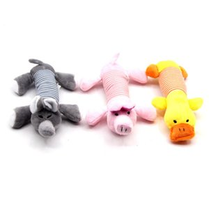 Dog Pet Puppy Plush Sound Dog Toys Pet Puppy Chew Squeaker Squeaky Plush Sound Duck Pig & Elephant Toys