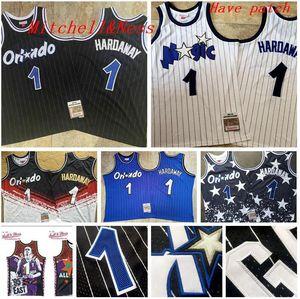Uomini OrlandoMagia1 Hardaway MitchellNess 1994-1995 blu bianco nero pallacanestro Jersey e pantaloni