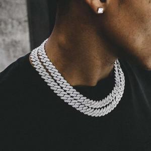 14mm Supérieur qualité Mode Mode Bijoux Bar Cuba Copper Inlaid Collier Zircon Hip Hop Rap Punk DJ Collier