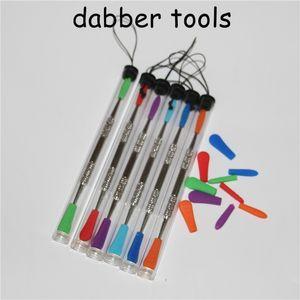 cera de venda 120 milímetros quente entalhar DAB ferramenta com o pacote de tubo de plástico cera dabber ferramentas de silicone ferramentas extremidade da ponta de fumar de metal DAB DHL livre