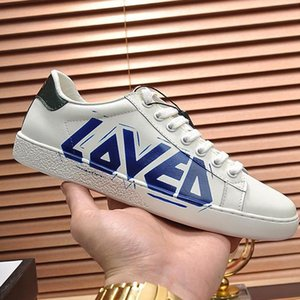 Men &#039 ;S Ace Sneaker With Loved Print Mens Shoes Fashion Design Leather Type Comfortable Shoes Lace -Up Low Top Casual Men Shoes Manner