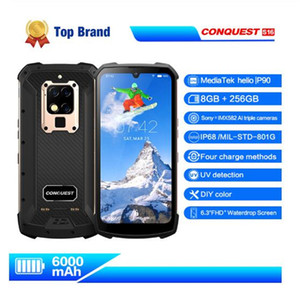 "Global Versão S16 IP68 Waterproof 4G Mobile Phone 6.3"" Screen Android 9.0 helio P90 8 Núcleo à prova de choque exterior robusto Smartphone"