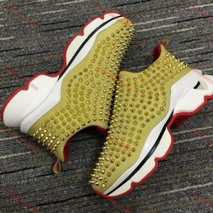 xshfbcl Superstar rivet red bottom sneakers lusso rhinestone shoe men and women models party progettista sports shoe couple leather flat sho