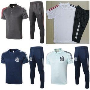2020 2021 Real Madrid fato de treino de manga curta 20 21 Espanha camisa pólo de futebol 4/3 calças de futebol Jersey survêtement CHANDAL treino