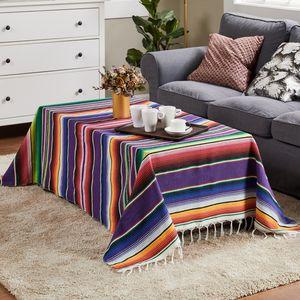 Хлопок Диван-Бич Одеяло Мексиканского Handmade Красочного Одеяло Главной Гобелен Бич Кемпинг Пикник Путешествие Plane Mat