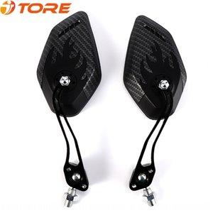 carbonio Motociclo grano moto retrovisore retrovisore attrezzature specchio 3K grano di vendita calda riflettore a specchio piano