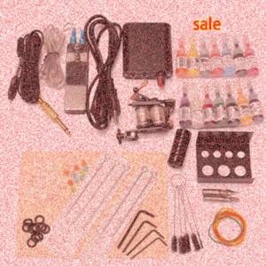 Professionale Completa Cord Attrezzature mitragliatrice del tatuaggio inchiostri Power Supply Strumenti Body Kit di bellezza fai da 90 264V Tatuaggi Guns Kit In vendita fixf #