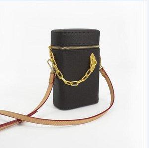 Blume symmetrische Phone Box Tasche aus echtem Leder Miniwanne Schulter-Beutel-Beutel-Frauen arbeiten Beutel Cross Body Handtasche