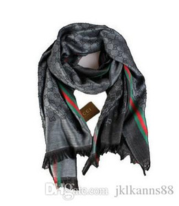 Luxury scarf new design bright gold silk cotton jacquard scarf designer shawls men's and women's autumn and winter Wraps scarves