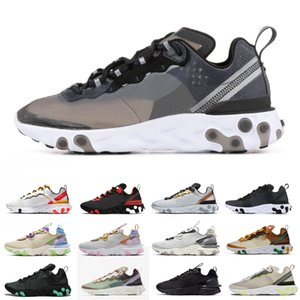 Fashion running shoes women men React vision Element 55 87 Total Orange Blue Chill womens mens newest comfortable outdoor sports shoes