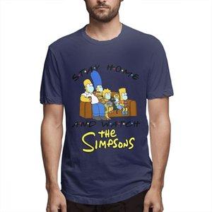 Die Simpsons Modedesigner Shirts Frauen Shirts der Männer mit kurzen Ärmeln Shirt Simpsons Printed T Shirts Causal Graphic T-Shirt c4507