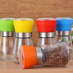 Salt and Pepper Grinder Shaker Mill Vintage glass Pepper Grinders Shaker Spice Pepper Container Jar LJJK2377