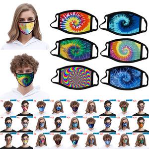 3D tie-dye maschera viso dimensioni antipolvere Adlut e Kid e Smog a prova di stampa di modo del ghiaccio tessuti di seta può essere lavato a supporto personalizzato XD23445