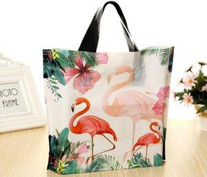 Gift Bag Flamingo Stampato in plastica Maniglie sacchetti di plastica accessori per la casa Abbigliamento Shopping Bag bagagli sacchetto del partito shopping Packaging Wedding Decor