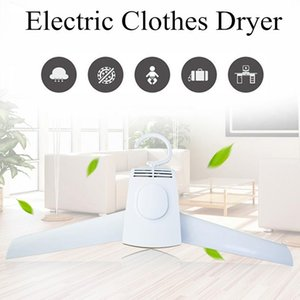 Electric Clothes Drying Rack Portable Smart Clothes Hanger Coat Hangers Outdoor Travel Mini Foldable Clothing Shoes Heater Dryer T200211