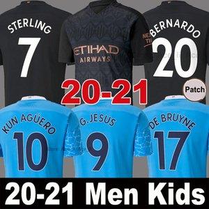 Tailandia 20 21 MANCHESTER CITY camiseta de fútbol G.JESUS DE BRUYNE KUN AGUERO MAN camisetas 2020 2021 camiseta de fútbol KIT camiseta de KIT de adultos y niños