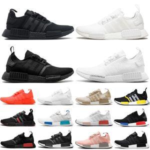 2020 Adidas NMD R1 V2 Erkek Kadın Koşu Ayakkabıları Açık Üçlü Siyah Thunder Erkek Bayan Eğitmenler Spor Ayakkabı Koşucu