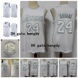 Blanco MVP NetsLakerstorosguerreroscohetes23 Michael Jodan LeBron James 23 30 13 Curry James Harden Baloncesto Jersey