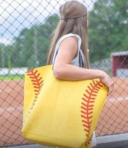 Bag Baseball Handbags Tote Bag Shoulder Cotton Football 18style Canvas Sports Print Bags Softball Basketball Tote Soccer Handbag GGA358 Snto