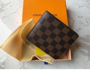 2020 yeni çanta Ücretsiz kutusunun 60.223 ile yüksek kaliteli Ekose desen kadın cüzdan erkekler pures üst seviye tasarımcı cüzdan cüzdan nakliye