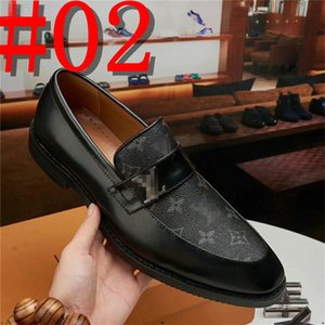 2020 Size 38-45 Fashion Real Leather Men Dress Shoes Pointed Toe Bullock Oxfords Shoes For Men, Lace Up Designer Shoe Men Shoes