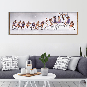 Silk Poster Sport Class Star Painting Basketball Commemorative Poster Classic Slam Dunk Wall Art Pictures For Living Room Home Decoration