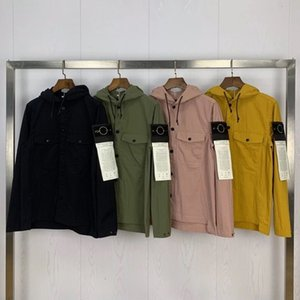 2020 tasche di nuovo arrivo della molla della bussola Logo di patch degli uomini del rivestimento di pietra High Street vestiti con cappuccio del rivestimento del cappotto