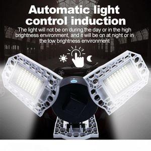Bulb garagem Luz 100W 80W 60W Lâmpada LED E27 LED LED Light Sensor deformáveis Lamp garagem Luz 2PC LOT, 5PC LOT