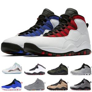 2020 Yeni 10 Kanatlar Seattle Westbrook Kırmızı Mavi Tinker Çimento Çöl Kamuflaj Erkekler Basketbol Ayakkabı 10s Grey Kızılötesi ben geri Çelik Sneakers değilim Soğuk