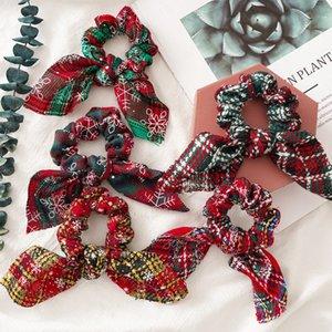 Fashion Christmas rabbit ears For Women Girls Elastic Hair Rubber Christmas Ornaments Hair Ring Velvet Hair Accessories