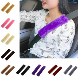 Car Seat Belt 2Pc Shoulder Pad Comfortable Driving Seat Belt Vehicle Soft Plush Auto Seatbelt Strap Harness Cover kids car