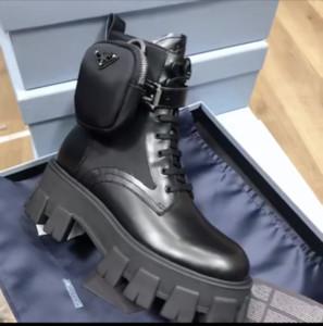 Ankle Martin Stivaletti donna spazzolato Rois Stivali vera pelle di nylon con il sacchetto nero Lady esterno smontabile dei bottini Pattini australia con la scatola