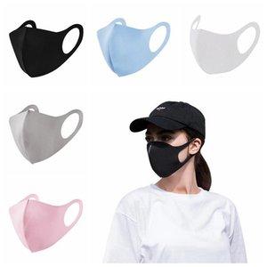 DHL доставка, Мода против пыли лица Рот Обложка РМ2,5 маска Респиратор пылезащитный Антибактериальные моющийся многоразовый Ice Шелковый хлопок 100шт