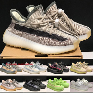 High Quality Kanye West V2 Kids Shoes Zyon Static Reflective Boys Girls Running Shoes Israfil Cloud White Yecheil Infant Sneakers Size 24-35