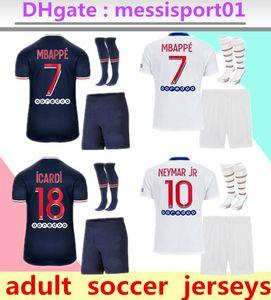 2020/21 Paris Fútbol kit adulto 20/21 parís Mbappe hogar lejos tercera Verratti CAVANI MAILLOT DE PIE París adulto camisa de los hombres JUEGO