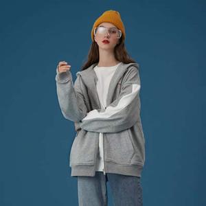 2020 New plus velvet coat women thick autumn and winter hoodie loose zipper cardigan sweater