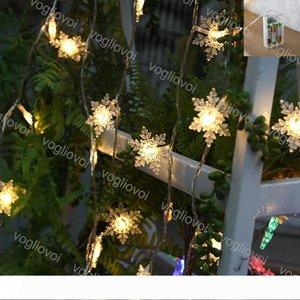 Noel ışıkları Big kar tanesi Dize Lambası 2M 3M Tatil Parti Süsleme Yanıp sönen Beyaz Değiştirilebilir Kullanım Pil 4.5V LED String EUB Isınma