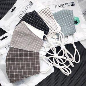 Fashion Gesichtsmasken Baumwolle Gittermaske waschbar staub- Maske atmungsaktiv einsetzbar Filter anti-Smog Maske individuelle patternDesigner Gesicht mas